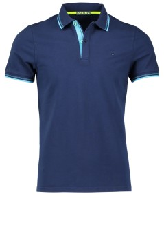 Korte mouw stretch polo Shockly donkerblauw