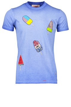 BOB t-shirt blauw icecream print