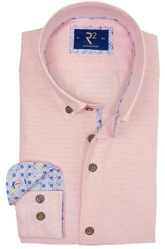 R2 shirt roze button down