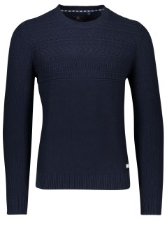 NZA pullover Loughnan donkerblauw structuur