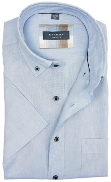 Eterna shirt lichtblauw comfort fit