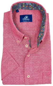 Culture shirt roze motief button down