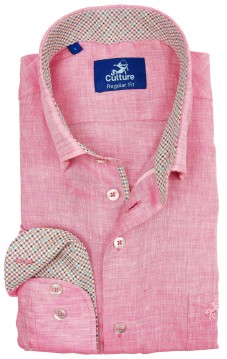 Culture casual overhemd roze regular fit