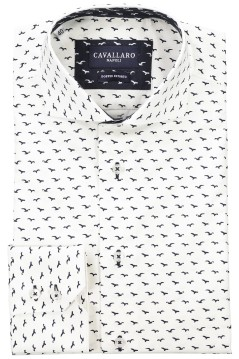 Cavallaro business shirt wit vogelprint