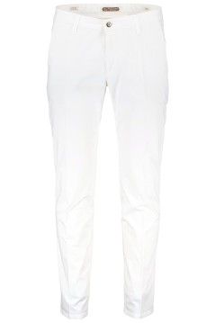 Four.ten Industry broek chino slim fit wit
