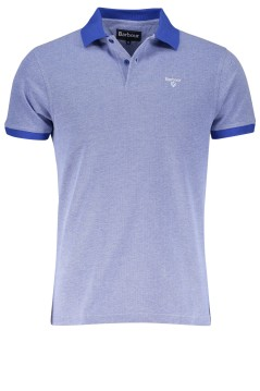 Barbour poloshirt blauw melange Sports