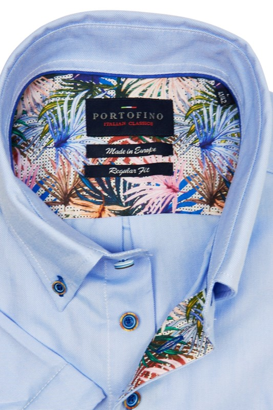 Portofino casual shirt regular fit korte mouw