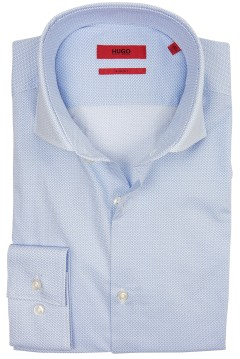 Hugo Boss slim fit shirt blauw print