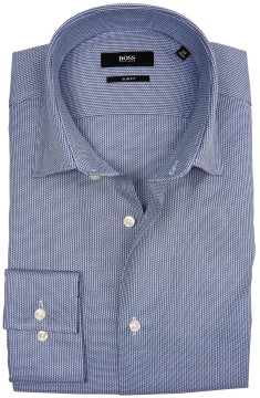 Hugo Boss slim fit shirt blauw motief