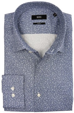 Hugo Boss blauw overhemd all-over print