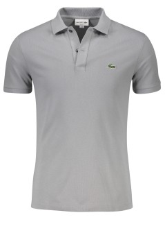 Lacoste slim fit polo grijs