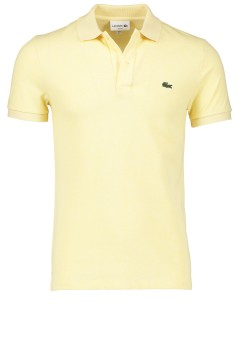 Lacoste polo lichtgeel slim fit