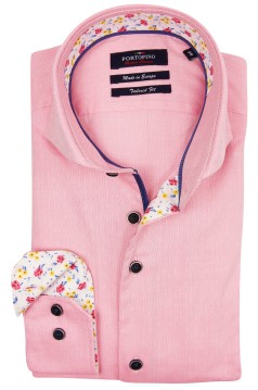 Overhemd Portofino roze tailored fit
