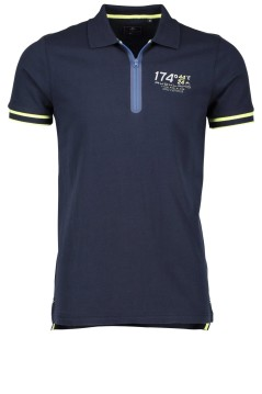 New Zealand polo navy met ritssluiting