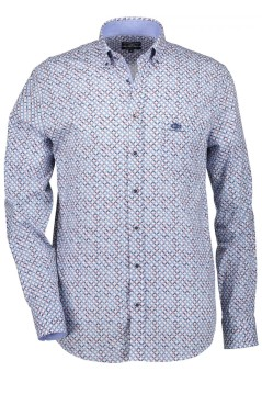 State of Art casual shirt blauw met logo
