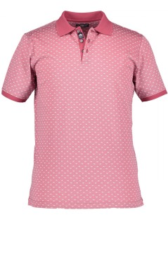 State of Art polo roze met print