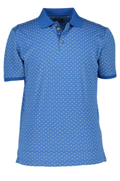 State of Art polo blauw print korte mouw