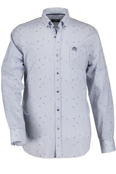 State of Art shirt blauw regular fit met logo