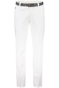 Meyer pantalon Bonn katoen stretch wit