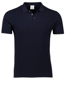 Blue Industry poloshirt donkerblauw structuur