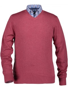 State of Art rode v-hals pullover regular fit