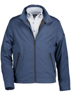 State of Art jas blauw polyester regular fit