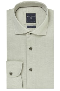 Profuomo overhemd groen oxford slim fit