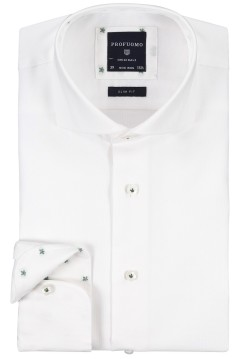 Profuomo strijkvrij overhemd wit oxford slim fit