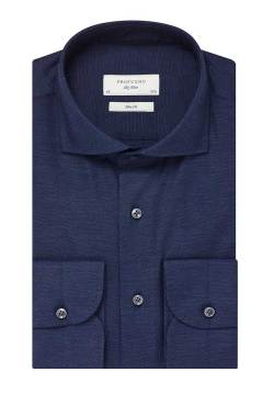 Profuomo overhemd slim fit navy