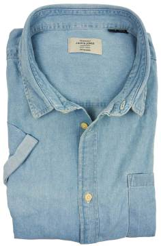 Jack & Jones Plus Size shirt blauw korte mouw
