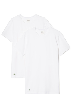 Lacoste witte T-shirts ronde hals 2-pack