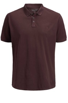 Jack & Jones Plus Size polo fudge bruin