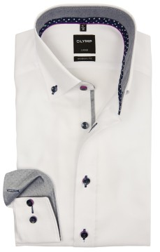 Olymp overhemd wit button down modern fit