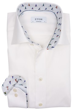 Eton contemporary fit shirt wit widespread boord