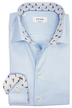 Eton overhemd contemporary fit blauw