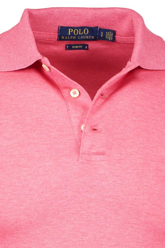 Roze slim fit Ralph Lauren polo