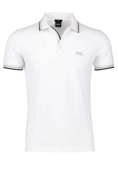 Hugo Boss polo Paddy wit regular fit
