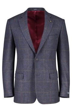 Magee classic fit colbert Nice blok blauw