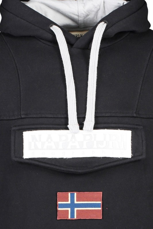 Napapijri hooded sweater Burger 2 zwart