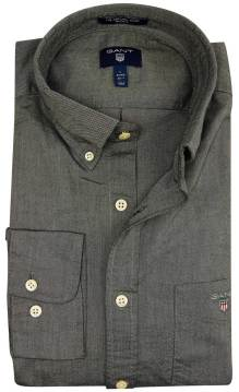 Gant overhemd grijs button down