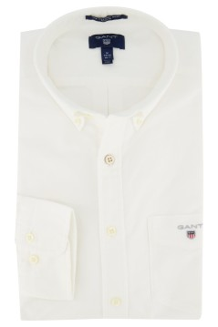 Overhemd Gant wit button down kraag