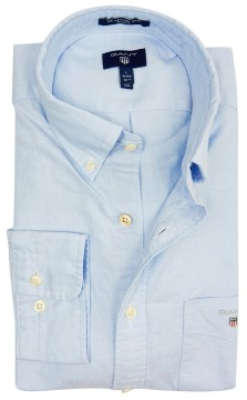 Gant overhemd lichtblauw button down
