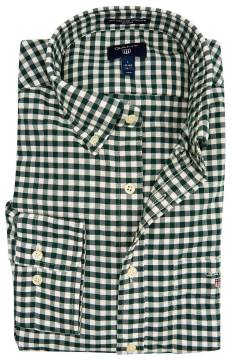 Overhemd Gant button down groen wit geruit