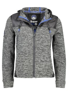 Superdry vest capuchon Mountain Ziphood grijs