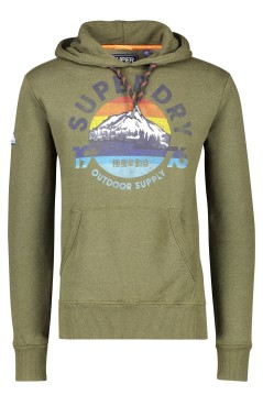 Superdry Mountain Trail Hood trui groen