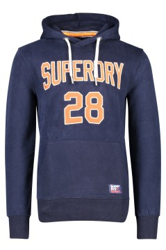 Superdry sweater trui capuchon donkerblauw