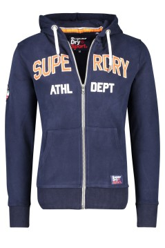 Superdry vest sweater capuchon donkerblauw