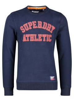 Superdry Academy trui ronde hals donkerblauw