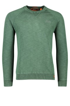 Superdry trui Washed Forest ronde hals groen