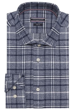 Tommy Hilfiger shirt blauw geruit slim fit